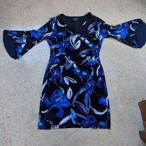 LAUREN RALPH LAUREN SIZE 16 FAUX WRAP DRESS